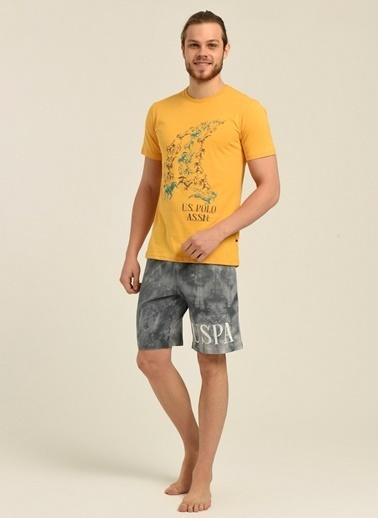 U.S. Polo Assn. Pijama Takım Sarı